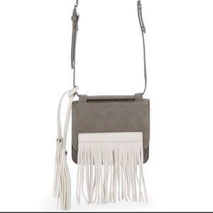 Urban Originals Freedom Fringe Crossbody Bag Gray